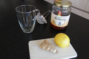 Ingredients lemon honey drink