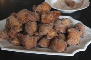 Austrian Fried Dough with Cinnamon-Sugar (Gebackene Mäuse)