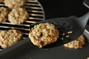 Oatmeal Cookie on a spatula