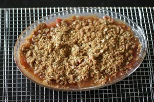 Rhubarb Crisp - fast & easy yet such a treat!