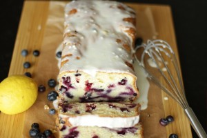 Lemon Blueberry Bread ~ Living on Cookies