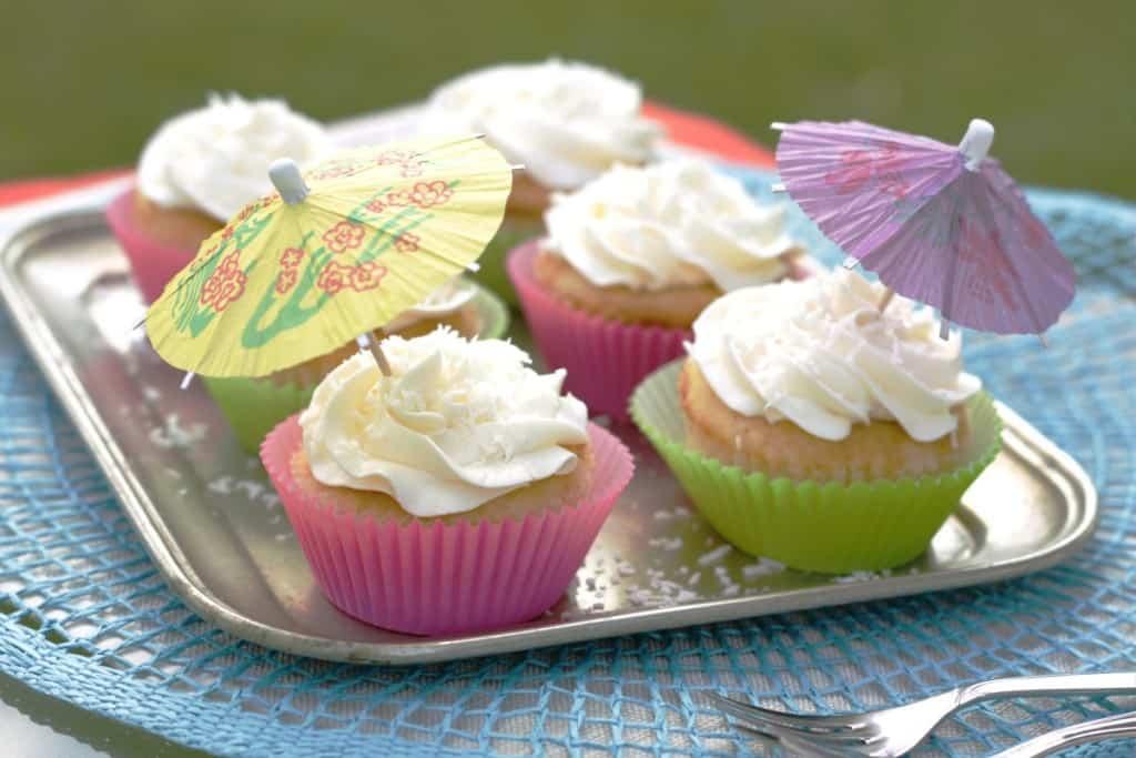 Piña Colada Cupcakes - Living on Cookies