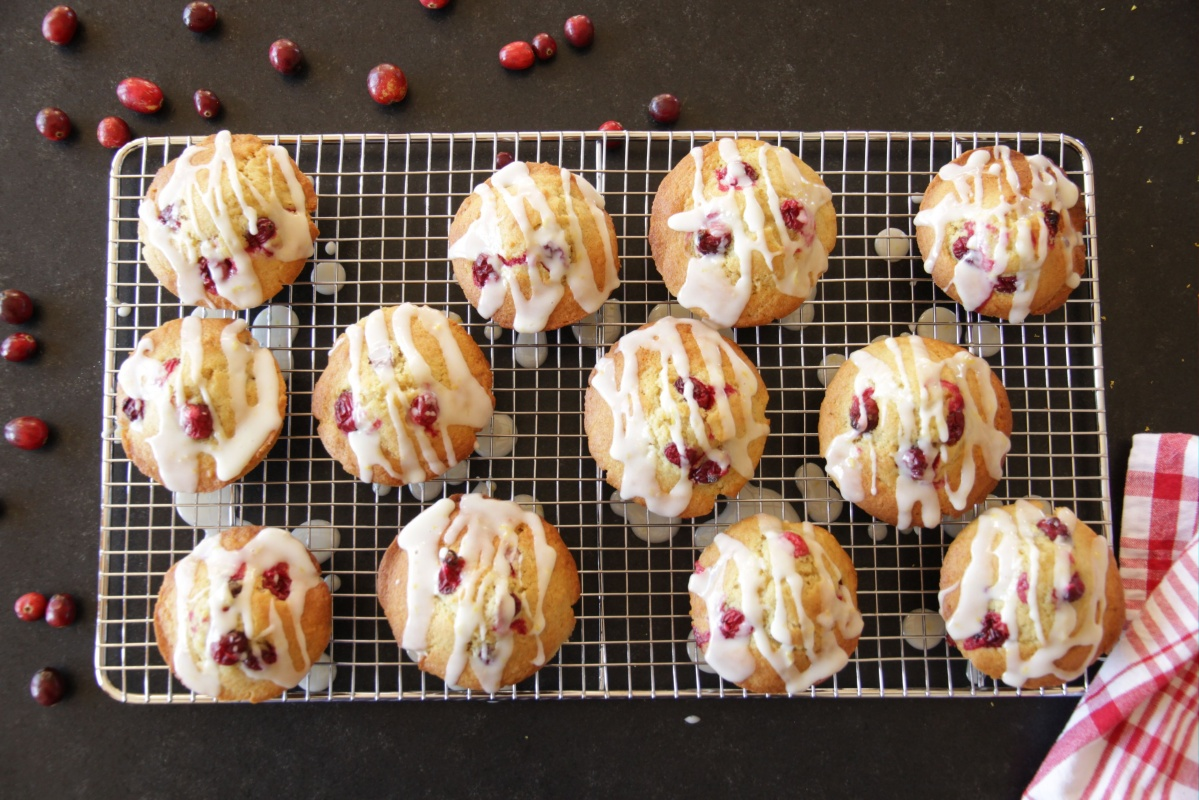 Cranberry Orange Muffins ~ Living on Cookies