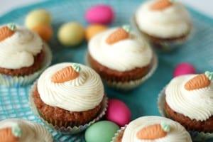 Karotten Cupcakes mit Cream Cheese Frosting