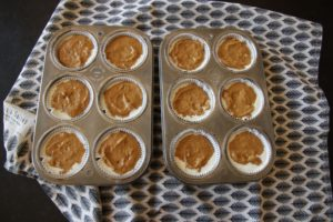 Pumpkin Cheesecake Muffins ~ Living on Cookies
