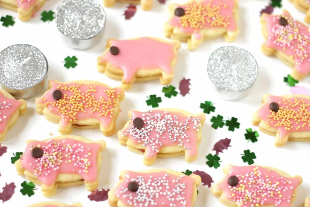 Glücksschwein-Kekse ~ Living on Cookies