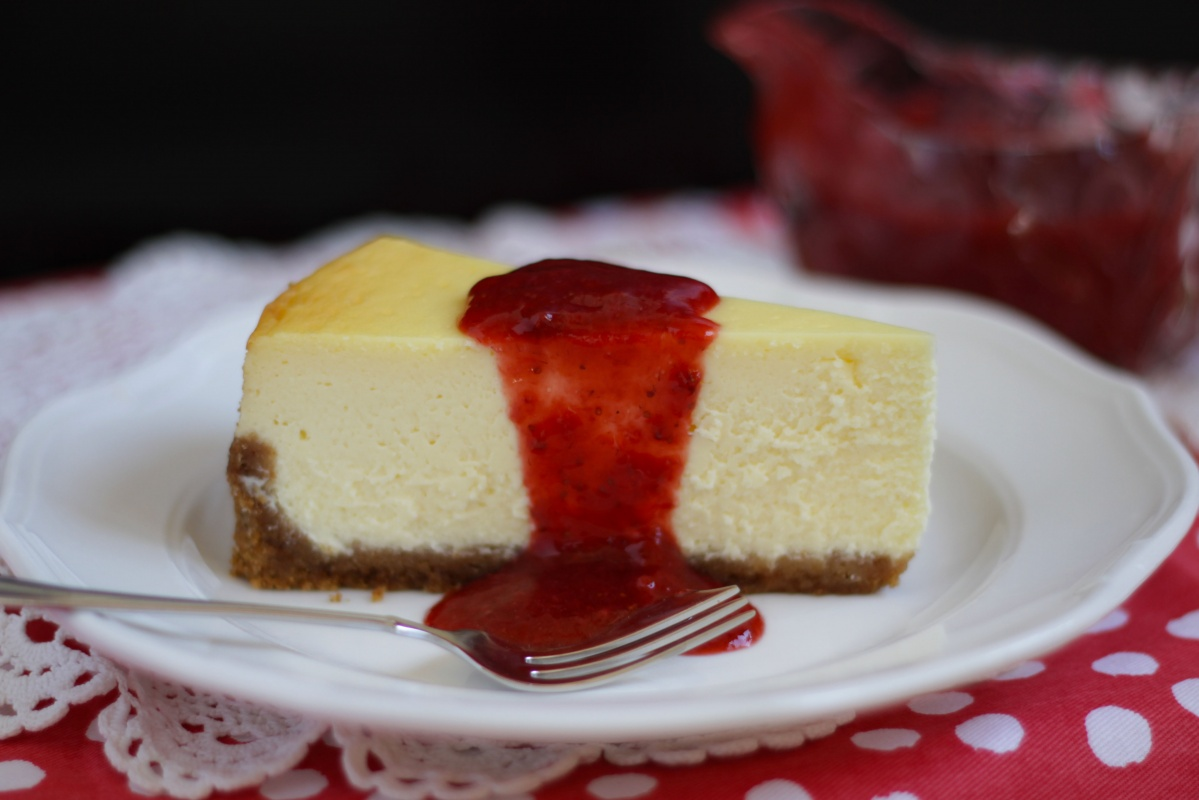 New York Cheesecake ~ Living on Cookies
