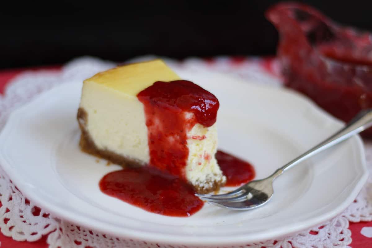 New York Cheesecake ~ Living on Cookies