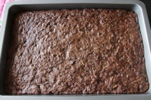 Zucchini Brownies ~ Living on Cookies