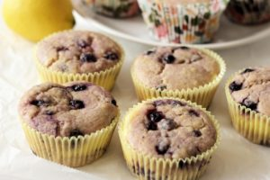 Lemon Blueberry Cheesecake Muffins