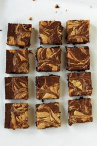 12 peanut butter swirl brownies