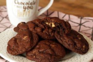 Schoko-Espresso-Walnuss Cookies