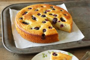 Lemon Olive Oil Cake with Berries