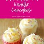 pinterest grafik 3 vanille cupcakes mit frischkäse topping