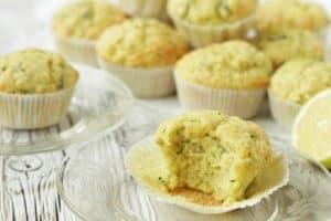 Zitronen-Zucchini Muffins