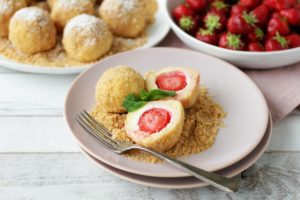 Austrian Strawberry Topfen Dumplings